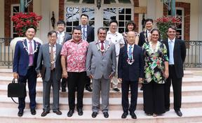 French Polynesian government receives China's Dazhong delegation in Papeete