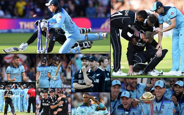 Scenes from the extraordinary final at the 2019 Cricket World Cup.