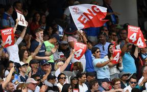 England cricket fans celebrate at Lord's.