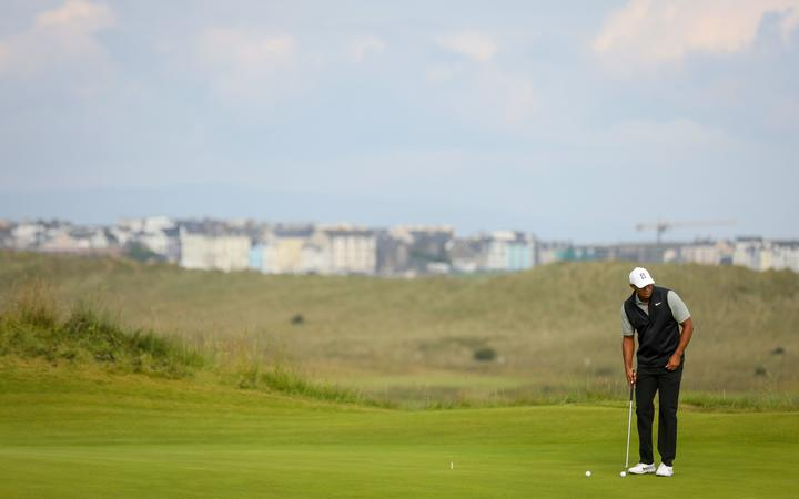 Tiger Woods at the 2019 Open at Royal Portrush