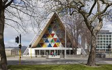 Christchurch's transitional cathedral.