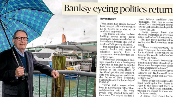 John Banks' hired hands prompted this story in the Sunday Star Times.