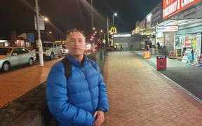 Nikora Davis, an advocate for Manurewa's homeless, at the spot where rough sleepers used to congregate before a crackdown.