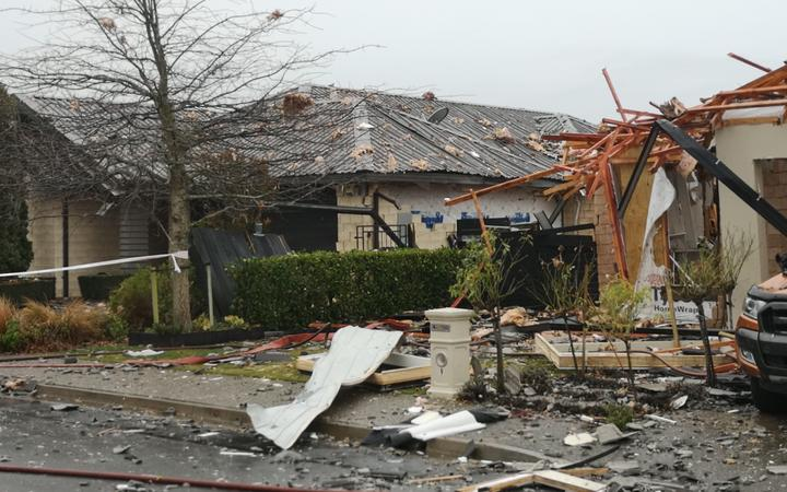 The scene of a gas explosion that destroyed a Christchurch property.