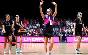 20/07/2019 - Netball - Vitality Netball World Cup 2019 - England v New Zealand - M&S Bank Arena, Liverpool, England - New Zealand's Jane Watson celebrates the win.