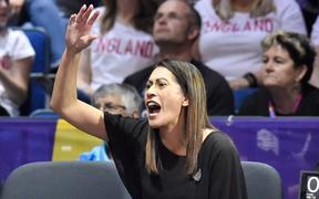 Silver Ferns coach Noeline Taurua during the 2019 Netball World Cup final against Australia in Liverpool.