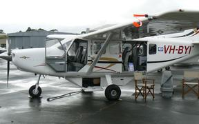 An example of the GA-8 Airvan, the type of plane that has been grounded.  Gippsland Airvan GA-8.
