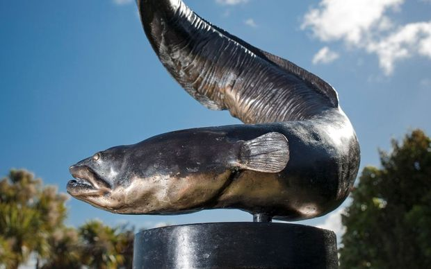 The sculpture 'Tuna' by Bing Dawe.