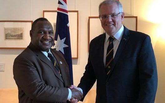 PNG PM James Marape and Australian PM Scott Morrison.
