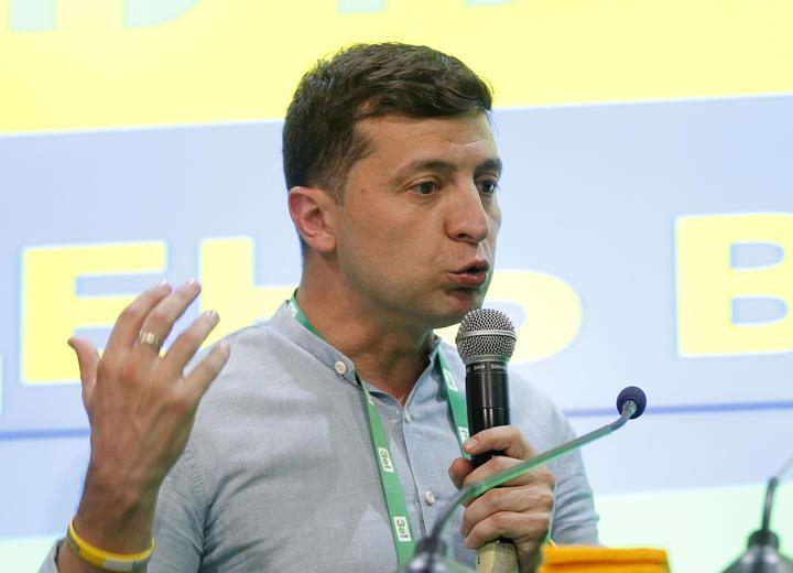 Ukrainian President Volodymyr Zelensky.