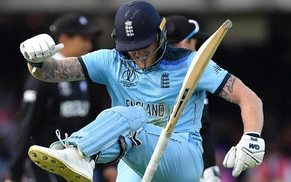 England's Ben Stokes reacts in frustration ahead of a 'super over' during the 2019 Cricket World Cup final between England and New Zealand at Lord's.  Organisers of the IPT hope their will be no such reaction from over-50 players if a match is tied.