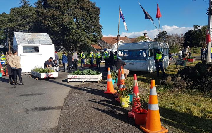 Police are at  Ihumātao in Auckland to evict occupants that have been living on the land for the last two years.