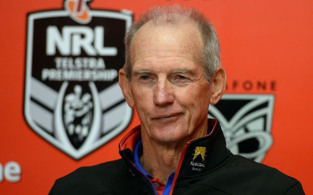 The Broncos coach Wayne Bennett.