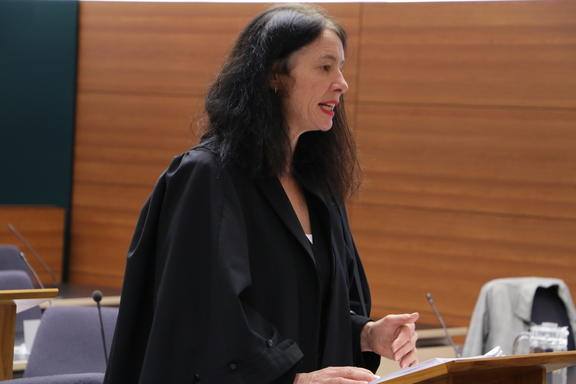 Lawyer Sue Grey, who is acting for the Society for the Protection of Aotea Community and Ecology Incorporated (SPACE), and Kelly Klink.