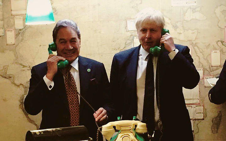 Winston Peters meeting with Boris Johnson in 2018.