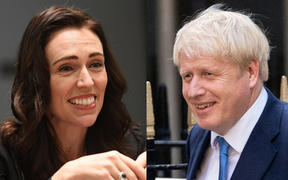 Prime Minister Jacinda Ardern and incoming British Prime Minister Boris Johnson.