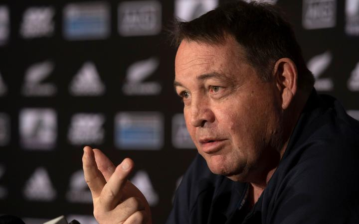 All Blacks head coach Steve Hansen speaks to the media during an All Blacks media conference at the Intercontinental Hotel in Wellington on Thursday the 25th of July 2019. Copyright Photo by Marty Melville / www.Photosport.nz