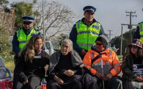 People continue to occupy Ihumatao after protestors were served an eviction notice which led to a stand-off with police on July 25