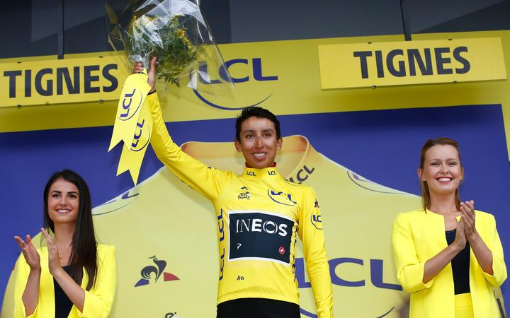 Colombian cyclist Egan Bernal.