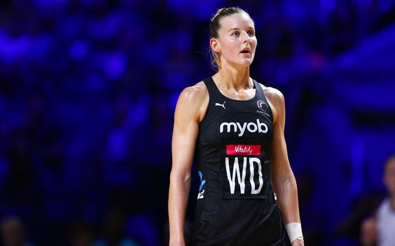 Katrina Rore in the 2019 Netball World Cup final in Liverpool.