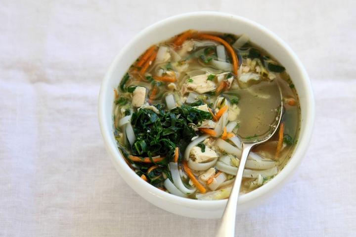 Healing homemade chicken soup