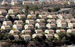 Houses in the settlement of Ofra in the Israeli-occupied West Bank.
