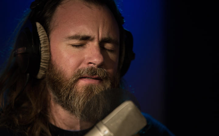 Liam Finn singing Neil Young's 'The Needle and the Damage Done' in the RNZ Auckland studio.
