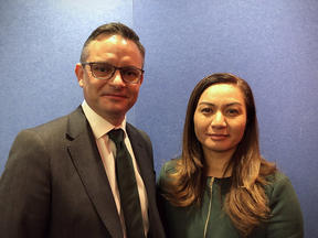 Green Party co-leaders James Shaw and Marama Davidson.