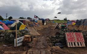 Ihumātao occupation in South Auckland on August 5, 2019