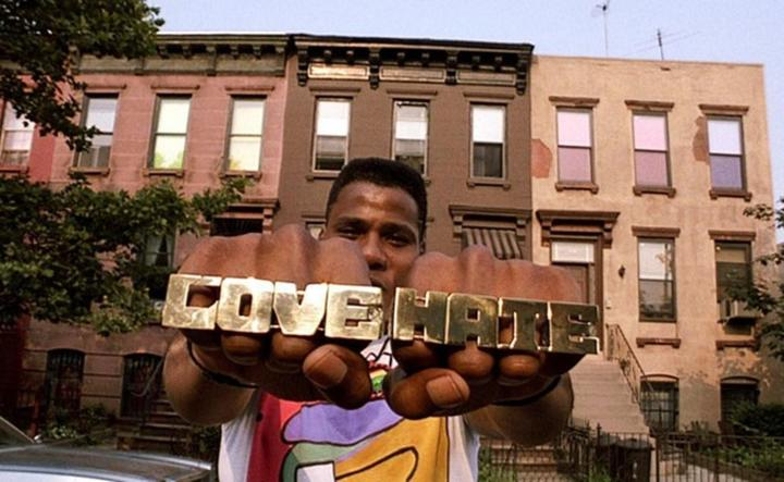 Bill Nunn as Radio Raheem in Spike Lee's Do the Right Thing (1989).