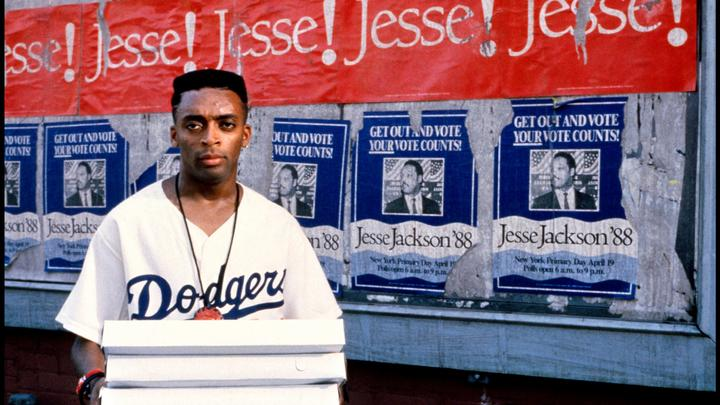 Spike Lee as Mookie in Do the Right Thing.