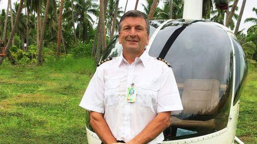 Australian Gilbert Parker is missing after his helicopter crashed while transporting a toddler and his mother to a hospital in the north of Fiji last week.