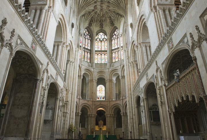 15-metre 'helter skelter' slide constructed inside Norwich Cathedral