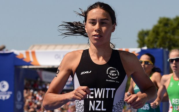 New Zealand triathlete Andrea Hewitt 4th at Glasgow Commonwealth Games.