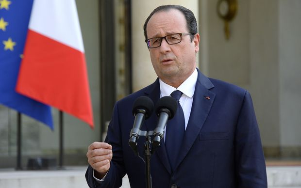 French President Francois Hollande said all military means on the ground would be used to locate the aircraft.