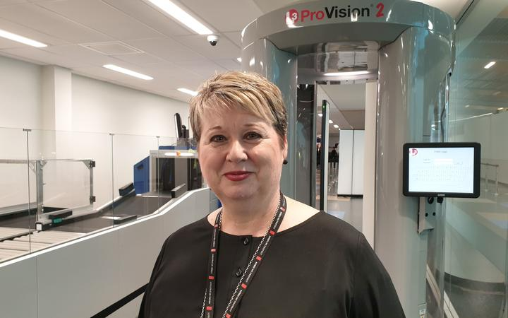 Aviation Security Service group operations manager Karen Urwin
