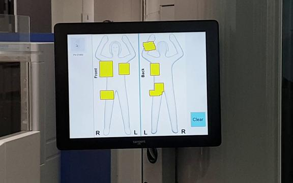 New millimetre-wave technology body scanners at Dunedin airport.