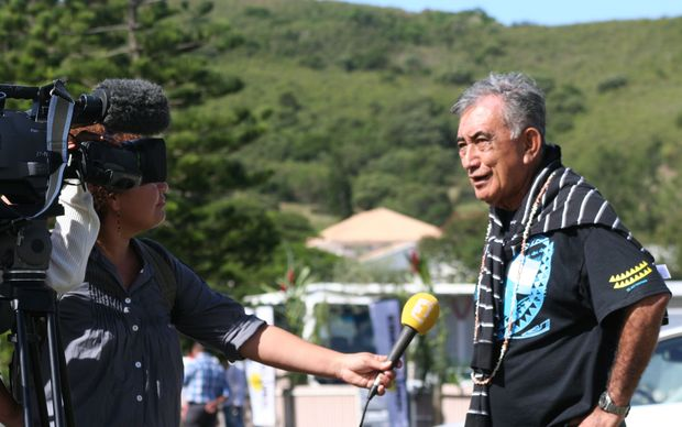 French Polynesia leader Oscar Temaru.