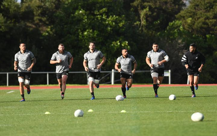 All Blacks training session ahead of the Bledisloe Cup game this weekend.