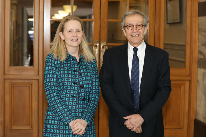 Katherine Rich, Chair of The Parliamentary Education Charitable Trust; and Girol Karacaoglu, head of the Victoria University School of Government