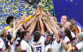 The USA won the women's football world cup in France in July.