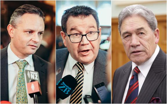 James Shaw. Grant Robertson and Winston Peters