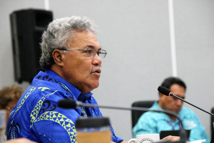 Tuvalu prime minister Enele Sopoaga at the Pacific Islands Forum
