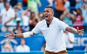Australian tennis player Nick Kyrgios