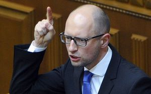 Arseniy Yatsenyuk speaking to MPs on Thursday.