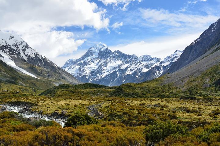 Mount Cook, New Zealand, viewed from the Hooker Valley Track