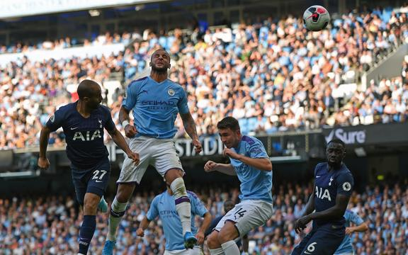 Lucas Moura of Tottenham Hotspur heads home to level the score 2 - 2 in the 56th minute with his first touch from coming on as a substitute