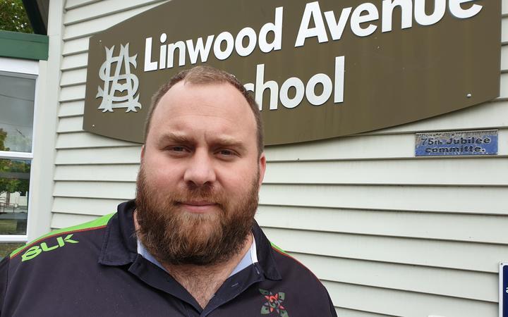 Linwood Avenue School principal, Blair Dravitski