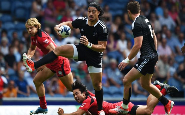 Ben Lam in action for New Zealand against Canada at Commonwealth Games
