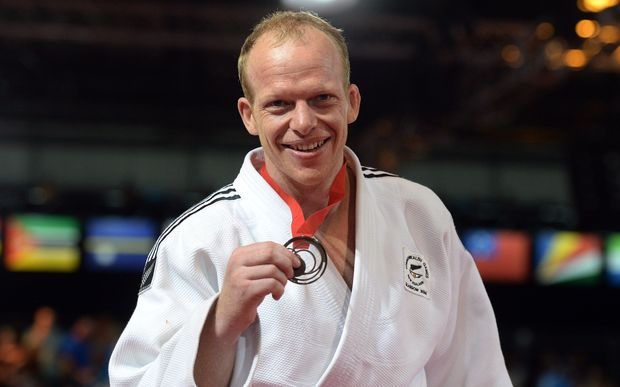 Men's 100kg Judo Bronze medallist Jason Koster. Commonwealth Games.